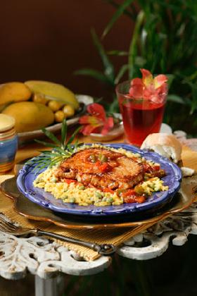 <!--:es-->SABOR Y SALUD – (Flavor and Health) EL CERDO ES BUENO: 'Chuletas de Cerdo con Sofrito' (Pork Chops with Sofrito)<!--:-->
