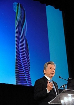 <!--:es-->Architect Dr. David Fisher announces the launch of the Dynamic Tower<!--:-->