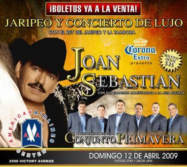 <!--:es-->Concierto, Jaripeo y Rodeo de Lujo en Dallas …con el Rey del Jaripeo y la Tambora:  JOAN SEBASTIAN …Y la presentación especial de Conjunto Primavera<!--:-->