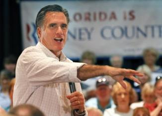 <!--:es-->Romney warns FL seniors about «Perry scheme»<!--:-->