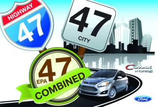<!--:es-->2013 Ford C-MAX Hybrid Earns 47 miles in the City and Highway Highest Output in the Industry<!--:-->