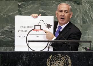 <!--:es-->Netanyahu says world must draw «red line» for Iran …He say «it is very late to stop!!!<!--:-->