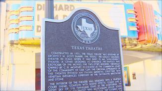 <!--:es-->New marker at Texas Theatre has historical error<!--:-->