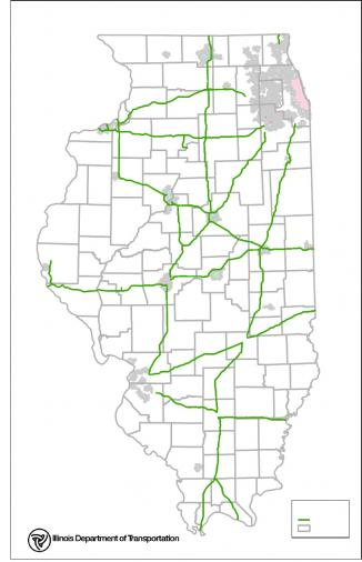 <!--:es-->Map: Here are the 70 mph areas on Illinois interstates<!--:-->