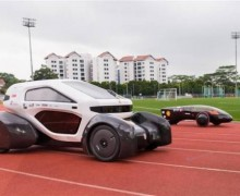 Automóvil solar con carrocería fabricada por impresión 3D
