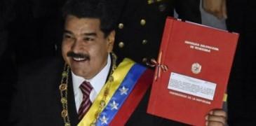 ...Maduro se presentó en la Asamblea Nacional para pedir personalmente luchar contra el imperialismo.