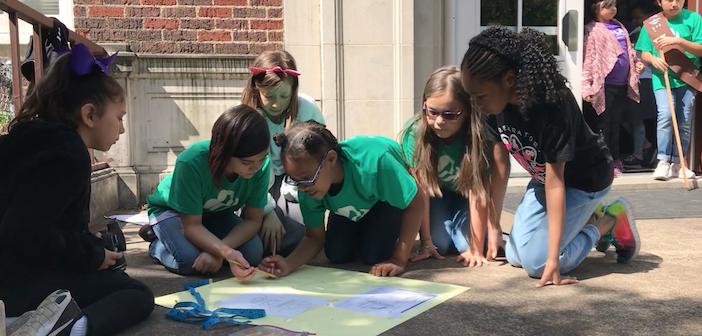 Solar Prep School for Girls build Little Free Libraries