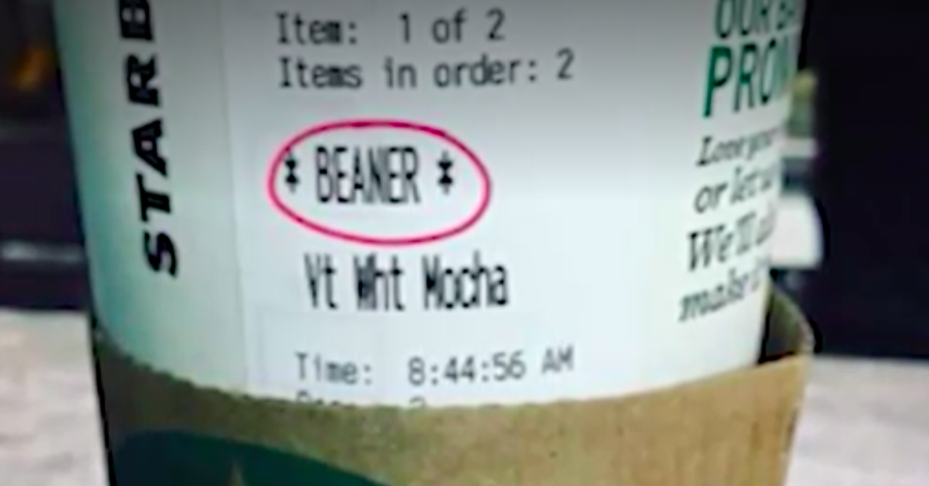 Latino Man Insulted When Starbucks Barista Writes Slur On Cup