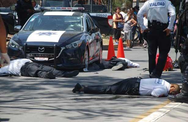 Matan a seis policías en Salamanca