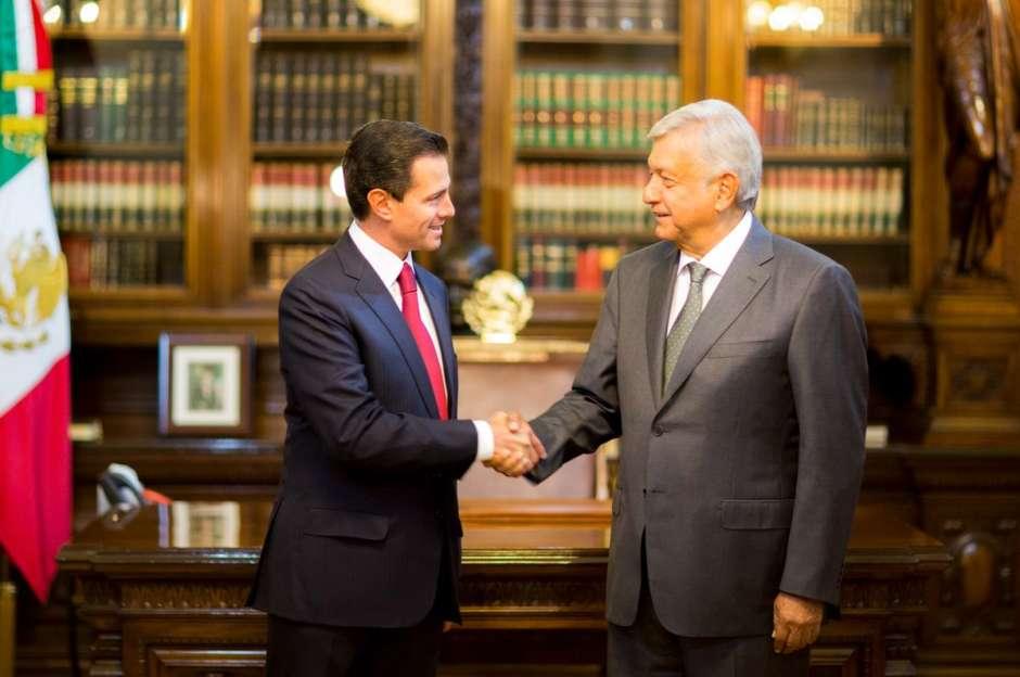 Histórica reunión de Peña Nieto con López Obrador