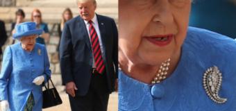 Los 'mensajes ocultos' en los broches de la Reina Isabel durante la visita de Trump