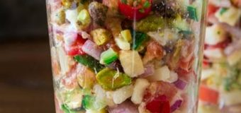 Ceviche  Vegetariano  con  Palmitos  y  Pistachos