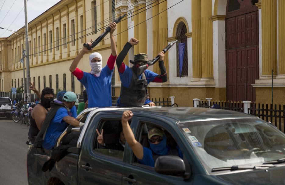 La arriesgada huida de 200 jóvenes de las balas de  los paramilitares en Nicaragua: Fue la única Salida