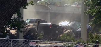 ¿Qué causó el colapso del estacionamiento en Texas?