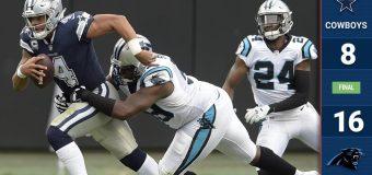 Dallas tropieza en Carolina ante Panthers de Cam Newton
