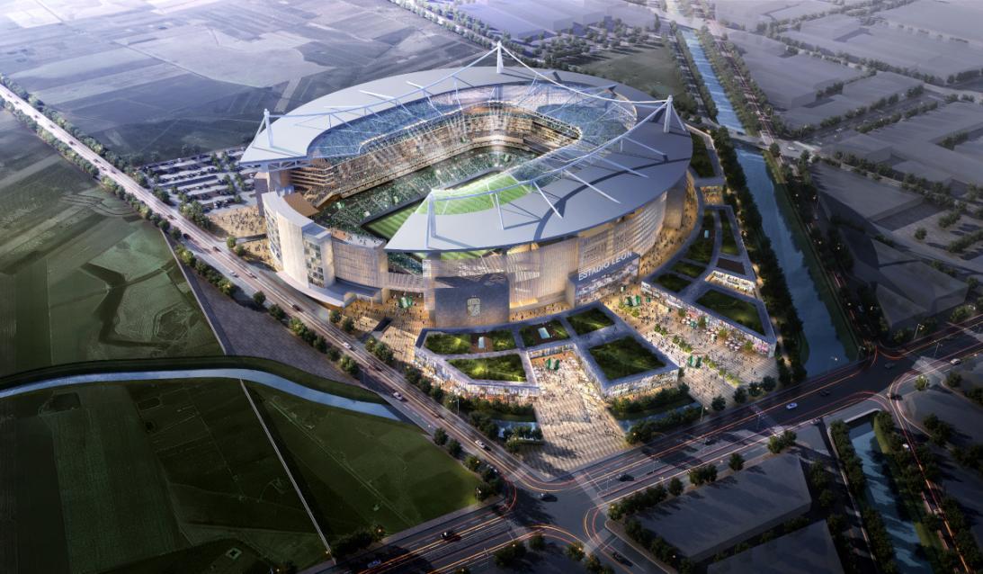 El nuevo estadio del León pinta para ser una belleza de recinto, de acuerdo a los planos