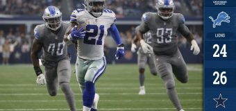 Dallas sufre pero derrota  a Detroit con partidazo de Zeke Elliott