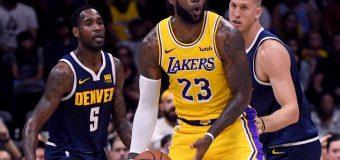 Inició la era de LeBron James  con  los Lakers en partido ante  los Denver Nuggets
