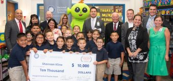 Elementary teacher awarded with  $10,000 check for 'inspiring teaching'