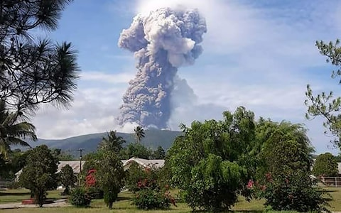 Volcano erupts in Indonesia days after devastating earthquake and tsunami