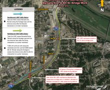 Full  I-35E  Mainlane  Closure  at  Marsalis  Ave. and 8th Street, Oct. 12-13