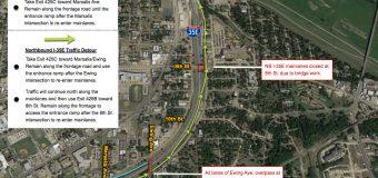 Full  I-35E  Mainlane  Closure  at  Marsalis  Ave. and 8th Street, Oct. 12-13