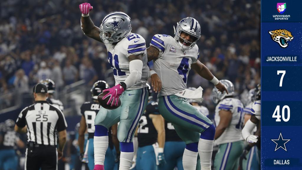 Cowboys dan la sorpresa aplastando a Jaguars con Elliott y Beasley dominantes