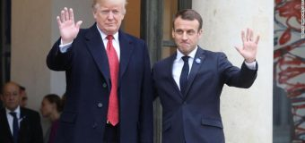 France accuses Donald Trump of lacking 'common  decency' for tweets on anniversary of Paris attacks