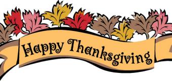 Dos caballeros el día de Acción de Gracias