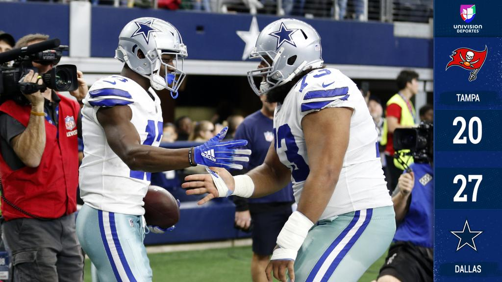 Dallas derrotó a Tampa Bay y regresa a Playoffs como campeón divisional