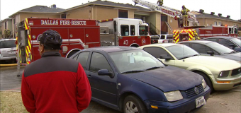 Kitchen fire displaces dozen at Dallas apartment complex