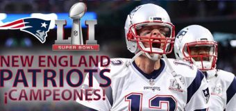 ¡Patriots, campeones!