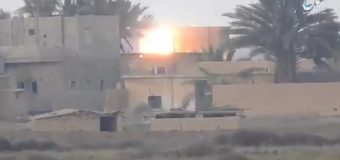 ISIS 'fire missiles at US-backed forces' in last stand as relatives of 'hardened' extremists flee from terror group's only Syrian stronghold
