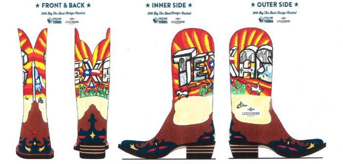 Dallas ISD student makes top 10  for Big Tex Boot Design contest