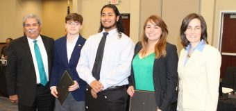 Heroic coach and teacher, outstanding robotics team and student app creators recognized by trustees