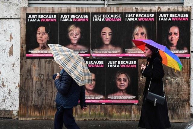 "Campaña contra violencia de género usa rostros de políticas ""golpeadas"""
