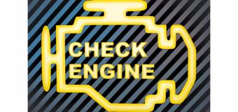 Señal de  Check  Engine,  alerta  naranja