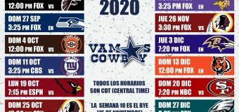 Calendario de Juegos de los Dallas Cowboys 2020