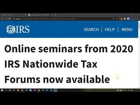 Online seminars from 2020 IRS Nationwide Tax Forums now available
