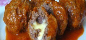 Albóndigas de Carne Molida y Mozzarella