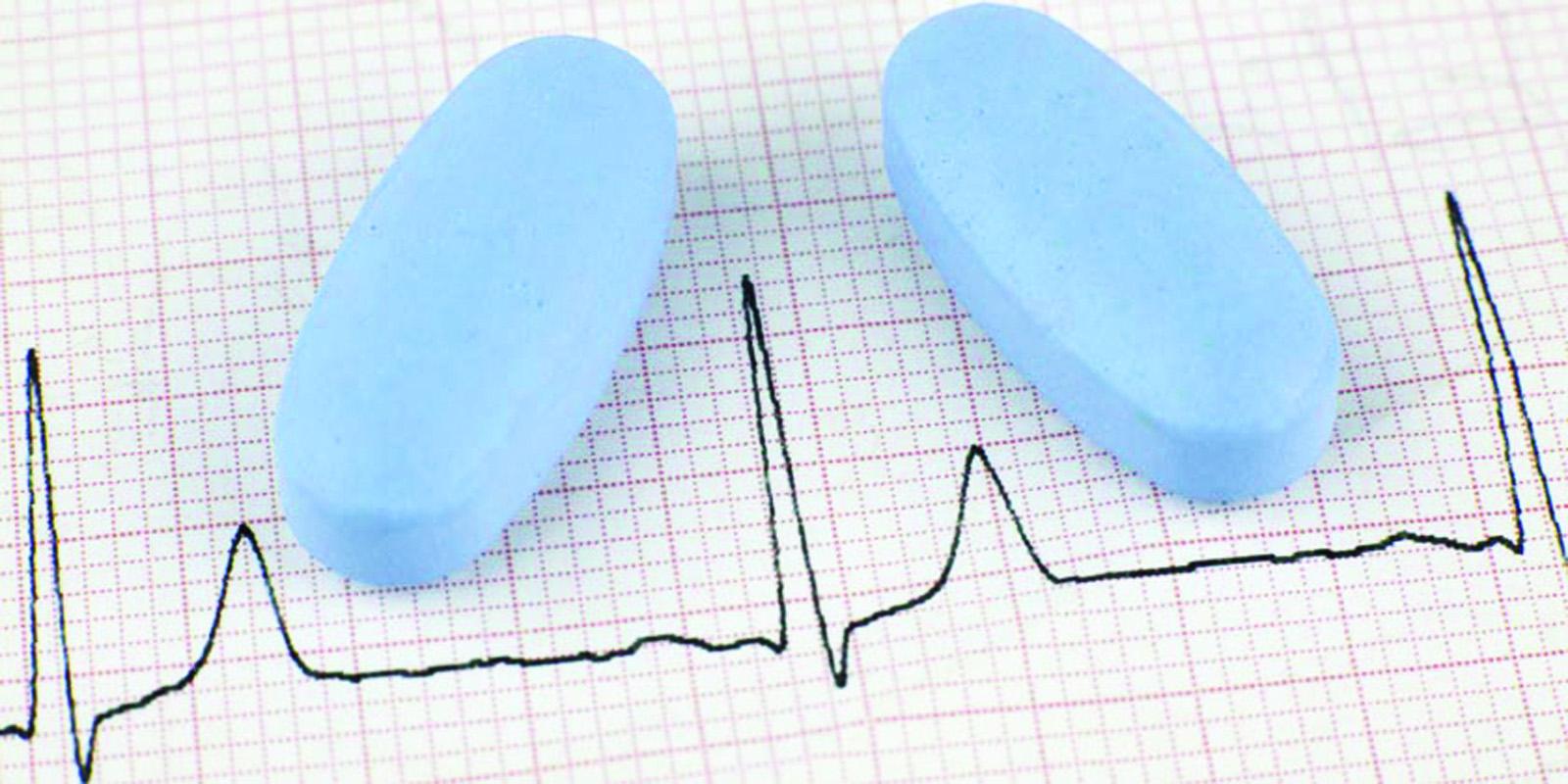 Los fármacos para la erección no  son peligrosos en hipertensión