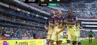 a Ciudad de México se pinta  de azulcrema con triunfo  del América sobre Pumas